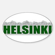 Helsinki, Finland Oval Decal