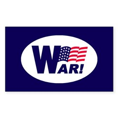 W-AR! Rectangle Decal
