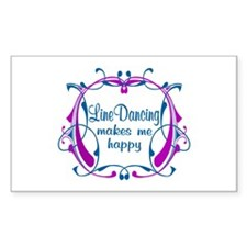 Line Dancing Happiness Decal