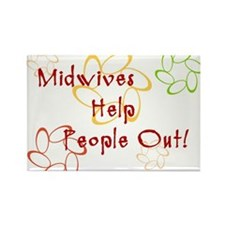 Midwives Rectangle Magnet (100 pack)