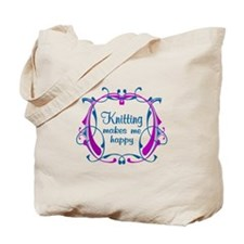 Knitting Happiness Tote Bag