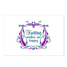 Knitting Happiness Postcards (Package of 8)