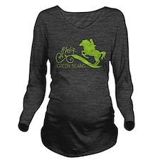 PNER GB Lime Logo Long Sleeve Maternity T-Shirt
