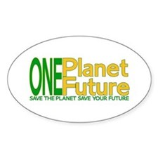 One Planet One Future Oval Decal