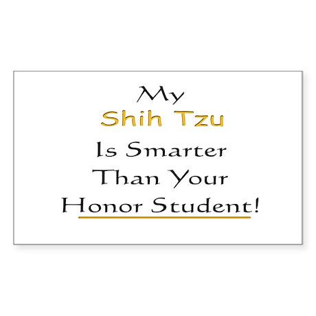 My Shih Tzu is Smarter Than Y Sticker (Rectangular