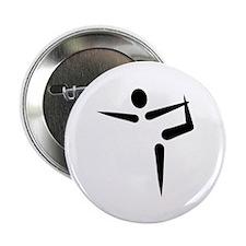 "Yoga Gymnastics logo 2.25"" Button (10 pack)"