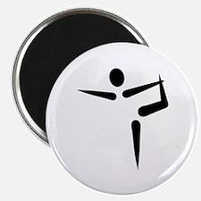 "Yoga Gymnastics logo 2.25"" Magnet (100 pack)"