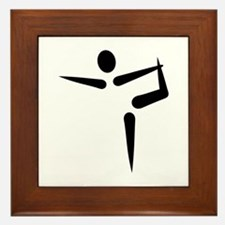 Yoga Gymnastics logo Framed Tile