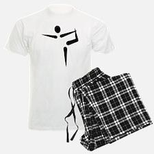 Yoga Gymnastics logo Pajamas