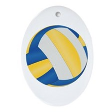 Volleyball - No Txt Ornament (Oval)