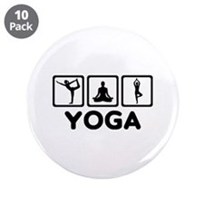 """Yoga exercise 3.5"""" Button (10 pack)"""
