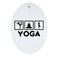 Yoga exercise Ornament (Oval)