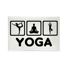 Yoga exercise Rectangle Magnet (100 pack)