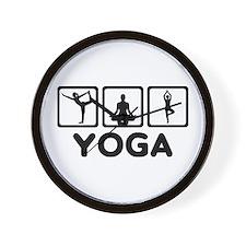 Yoga exercise Wall Clock