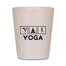 Yoga exercise Shot Glass