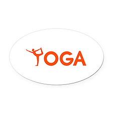 Yoga sports Oval Car Magnet