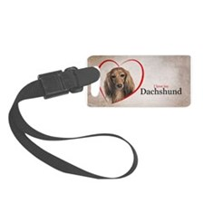 Love My Dachshund Luggage Tag
