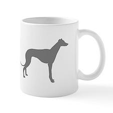 greyhound grey 2 Mugs
