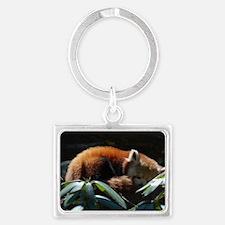 Sleeping Red Panda Landscape Keychain