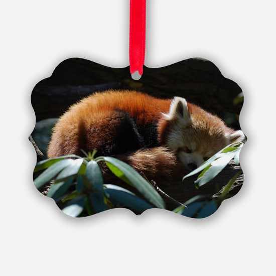 Sleeping Red Panda Ornament