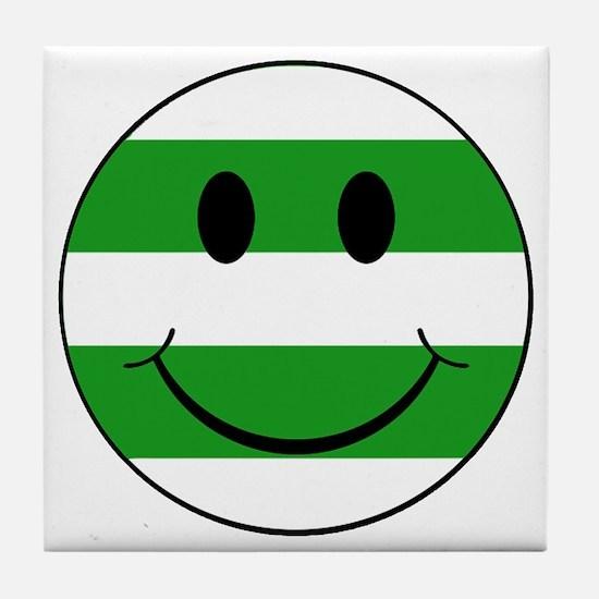 smiley hoops Tile Coaster