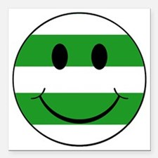 """smiley hoops Square Car Magnet 3"""" x 3"""""""