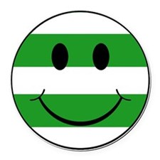 smiley hoops Round Car Magnet