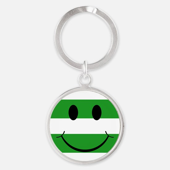 smiley hoops Round Keychain