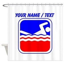 Custom Swimming League Logo Shower Curtain