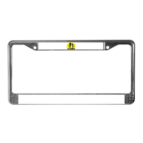 Zombie moon License Plate Frame