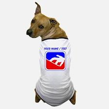 Custom Snowboarding League Logo Dog T-Shirt
