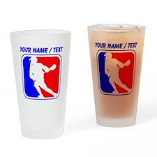 Custom Lacrosse League Logo Drinking Glass
