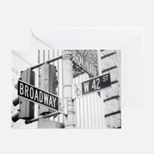 NY Broadway Times Square - Greeting Cards (Pk of 1