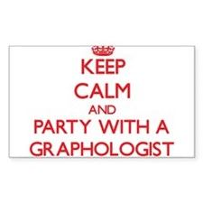 Keep Calm and Party With a Graphologist Decal