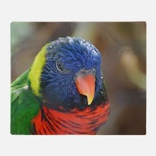 Colorful Lorikeet Throw Blanket