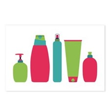 Toiletries Bottles Styling Products Postcards (Pac