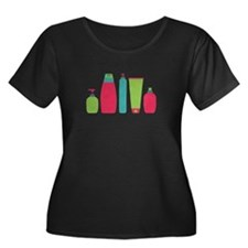 Toiletries Bottles Styling Products Plus Size T-Sh