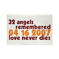 32 Angels Rectangle Magnet