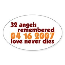 32 Angels Oval Decal