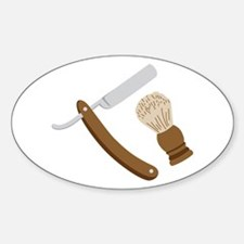 Straight Razor Men Shave Decal