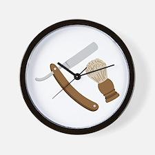Straight Razor Men Shave Wall Clock