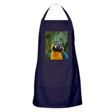 Face of a Blue and Gold Macaw Apron (dark)