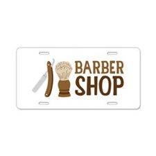 Barber Shop Aluminum License Plate