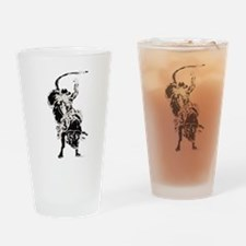 Bull Rider 2 Drinking Glass