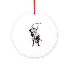Bull Rider 2 Ornament (Round)