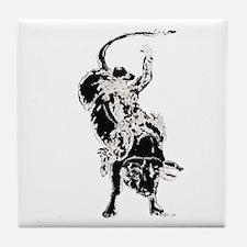 Bull Rider 2 Tile Coaster