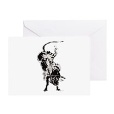 Bull Rider 2 Greeting Card