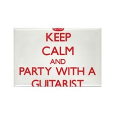 Keep Calm and Party With a Guitarist Magnets