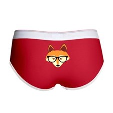 Cute Hipster Fox with Glasses Women's Boy Brief