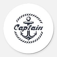 Captain Round Car Magnet